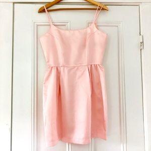 NWOT Benetton Italian Pink Silky Dress Size Small